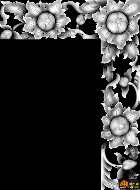 花藤边框-电脑雕刻图