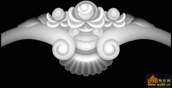 花纹沙发椅-石雕灰度图-灰度图,bmp图,浮雕图,云峰轩