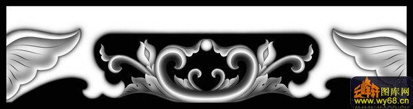 大象头 西洋花-石雕灰度图