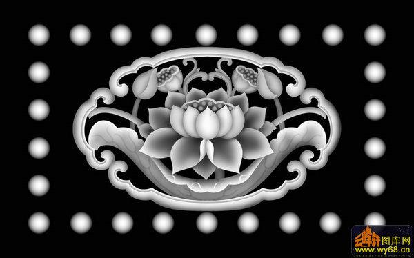 洋花-欧式浮雕灰度