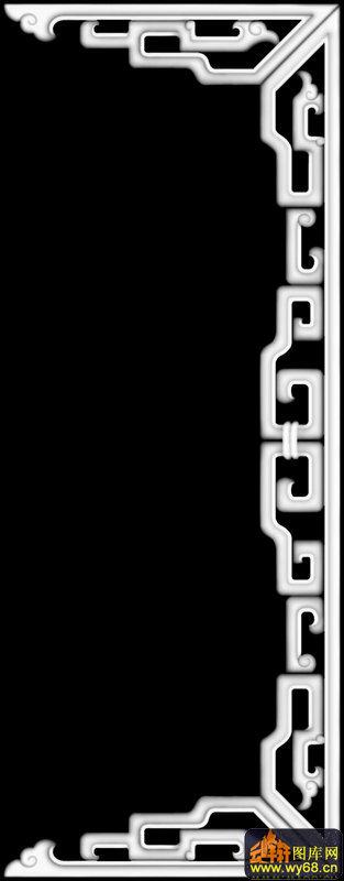 回字纹边框-灰度浮雕
