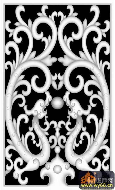 花纹-浮雕图案-灰度图