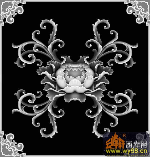 花纹 回纹-欧式洋花浮雕