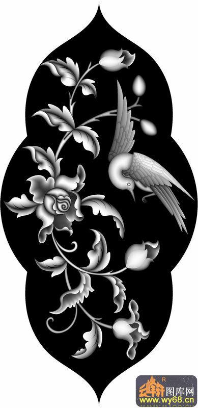 花鸟 浮雕图案