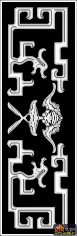 花纹 龙纹-灰度图电脑雕刻图