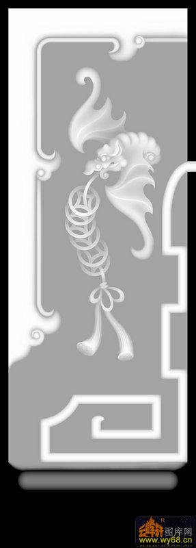 蝙蝠 花纹-电脑雕刻图