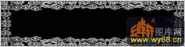 边框-欧式洋花浮雕灰度图