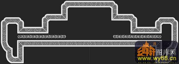 边框-欧式洋花浮雕灰度图图片