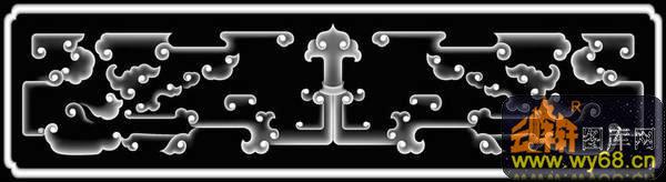 圆-欧式洋花浮雕