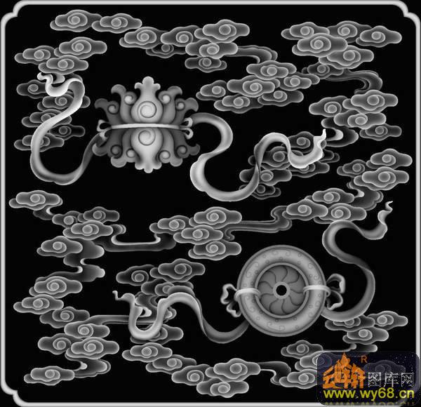 花纹-欧式洋花浮雕