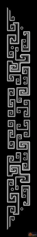 花纹 扶手-浮雕灰度图