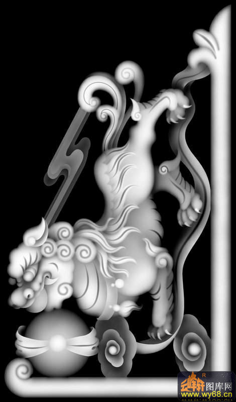 木雕图片洋花龙