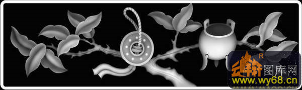 花 叶子-灰度图电脑雕刻图