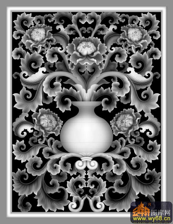 鸳鸯-欧式洋花浮雕