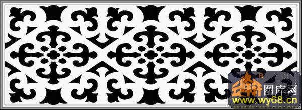 花纹-欧式洋花浮雕灰度