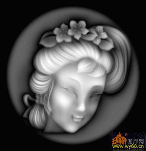 欧式女人物浮雕头像