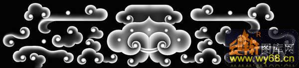 橡皮章素材 团云纹