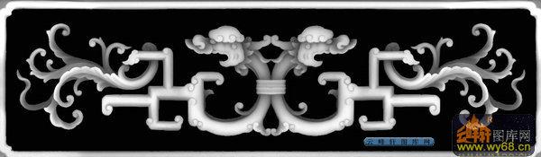 办公桌002-龙纹-006-办公桌浮雕图库-灰度图,bmp图,图