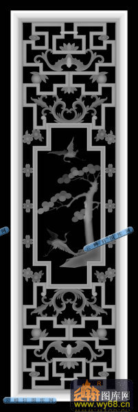 01-窗棂-029-家具雕花综合灰度图案