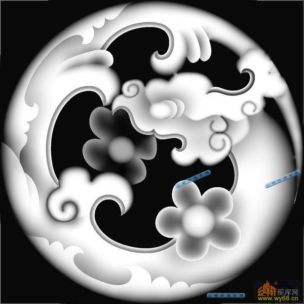 草龙 团龙纹 041 龙凤灰度图案