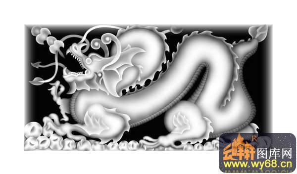 龙 花纹-灰度雕刻图