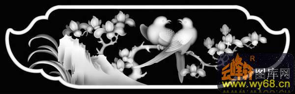 荷花-浮雕图案