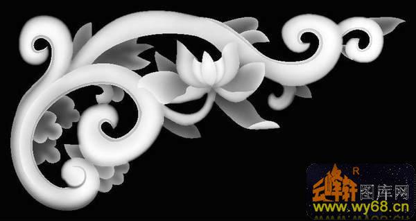 花纹 角花-灰度雕刻图-灰度图,bmp图,浮雕图,云峰轩