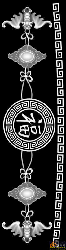 宝塔 砚台 圆-灰度雕刻