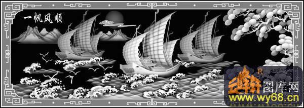 欧式洋花浮雕灰度图