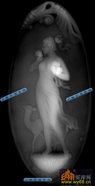 石雕-小天使-018-浮雕灰度
