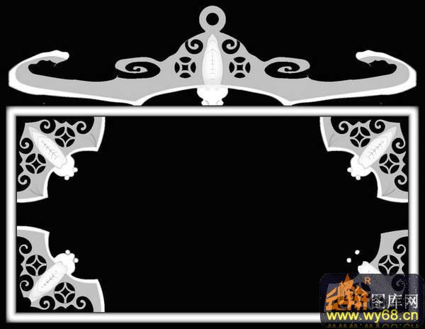 花纹 椭圆 鞋子-欧式洋花浮雕灰度