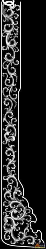 西洋花花纹-浮雕图案-灰度图,bmp图,浮雕图,云峰轩