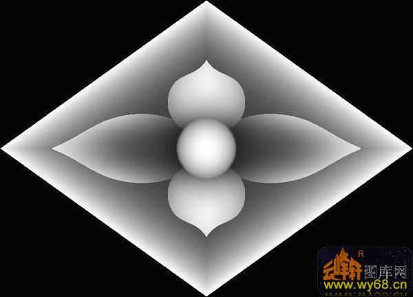 花 花纹 菱形-灰度图库素材