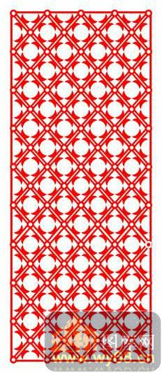 木雕镂空花格-圆形花纹-木雕镂空花格001-01