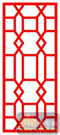 木雕镂空花格-传统花纹-木雕镂空花格001-038玄关柜