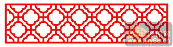 木雕镂空花格-花朵-木雕镂空花格001-105镂空花纹