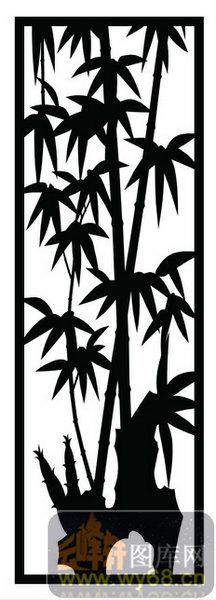 木雕综合001-竹子-欧式002-034-玄关柜