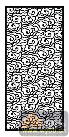 式1-015-镂空雕花矢量图