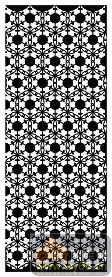 木雕综合001-艺术圆点-欧式002-059-隔断墙效果图