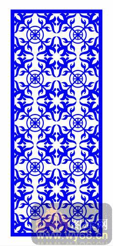 欧式镂空装饰002-古风-欧式1-026-木雕花镂空隔断