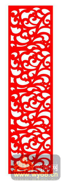 欧式镂空装饰002-红色线条-欧式1-036-镂空雕刻
