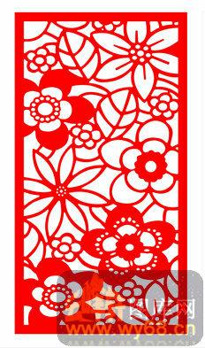 中式镂空装饰003-花朵-中式1-223-木板雕刻