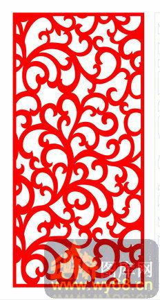 欧式镂空装饰002-红色花藤-欧式1-085-欧式镂空