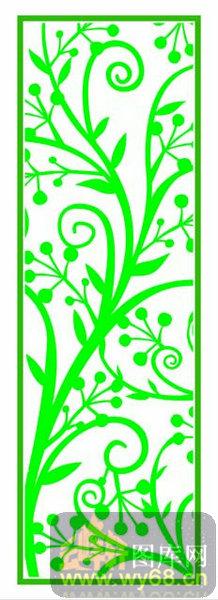 欧式镂空装饰002-绿色树藤-欧式1-175-镂空隔断效果图