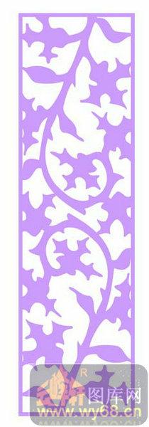 室内装饰镂空图-紫色花藤-室内装饰镂空图1-008-欧式