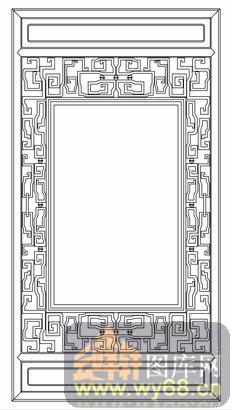 中式镂空装饰002-古朴-中式镂空装饰002-024-镂空雕花图片