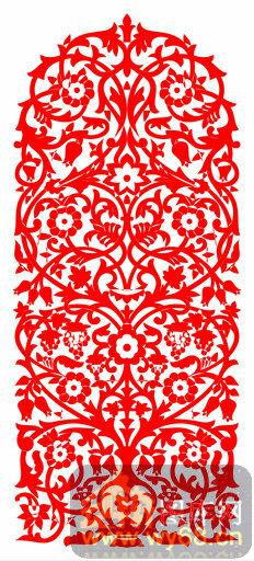 欧式镂空装饰002-门形-欧式1-063-电视背景墙