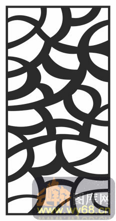 装饰002-线条-中式镂空装饰002-103-木雕花镂空隔断