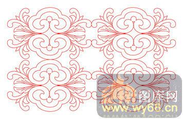 木雕镂空花格-如意花纹-木雕镂空花格001-081-镂空图
