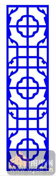 中式镂空装饰003-传统花纹-中式1-103-隔断墙效果图